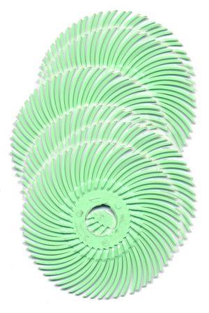 Radial Bristle Discs, 2″ diameter, 6-Pk