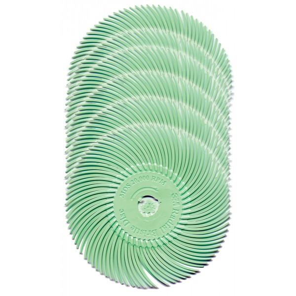 Radial Bristle Discs Brosses 220 Grit OD25 Pack de 10 Bristle Disque Brosse