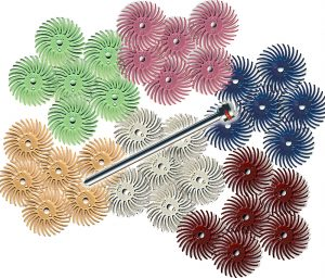 Radial Bristle Discs 9/16″ diameter,  6-Packs or Assortment