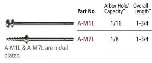 Left Hand Threaded Mandrels, 3/32″ Shank