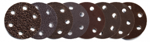 2″ Screw-Lok Aluminum Oxide Sandpaper Discs with Holes, 24, 40, 80, 120, 180, 240, 320, 400, 600 grit
