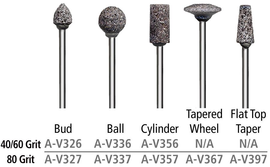 V Stone Mounted Abrasive Points – 3/32