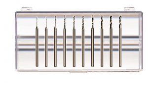 Cobalt Steel Step Drills, 17 head sizes from .5mm – 2.3mm or 10-pc Assortment