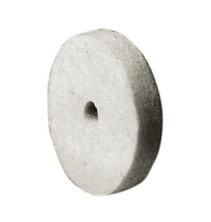 A-W305 Felt Buff, 2″ diameter with 1/4″ diameter arbor hole