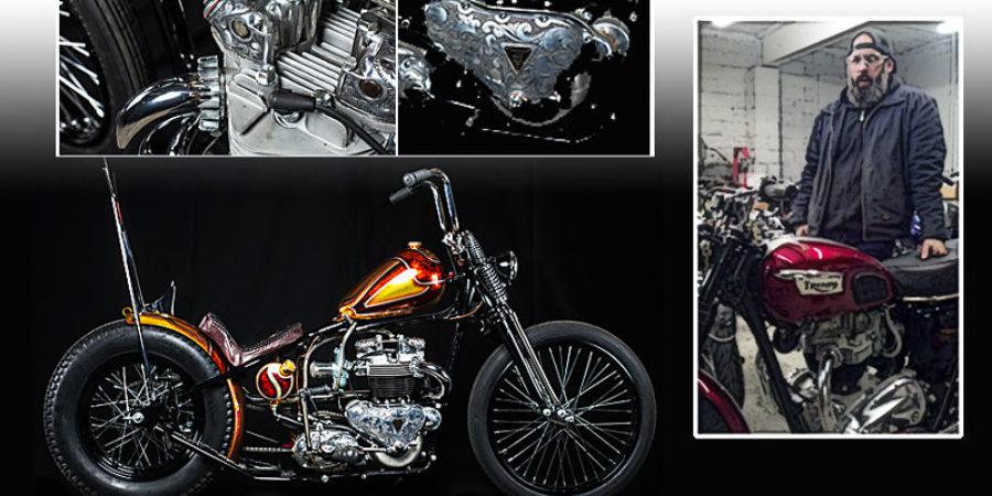 Jay Medeiros, Builder & Partner of Choppahead, Custom Classic Motorcycles, New Bedford, MA choppahead.com