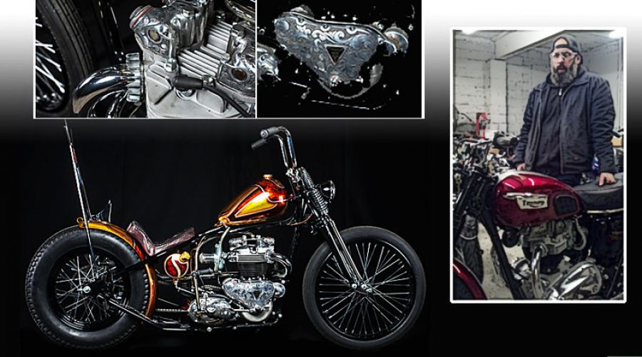 Jay Medeiros, Builder & Partner of Choppahead, Custom Classic Motorcycles, New Bedford, MA choppahead.com