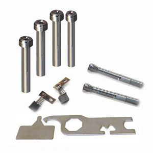 Collets, Adapters, Motor Brushes, Wrenches, Fuse, Graver Holder, Splashback Kit
